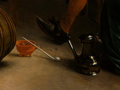 STEEN,J  THE DANCING COUPLE, DETALJ 17, 1663, NGW