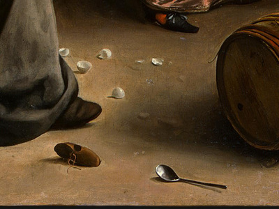 STEEN,J  THE DANCING COUPLE, DETALJ 18, 1663, NGW