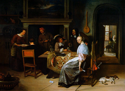 Steen Jan The card players Sun