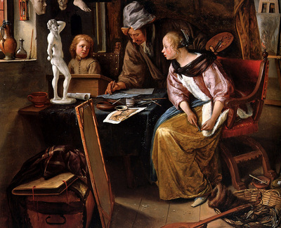 Steen Jan The drawing lesson Sun