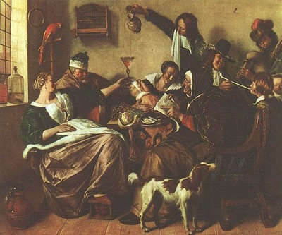 Steen The Artists Family, oil on canvas, Mauritshuis, The H