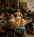 STEEN,J  THE DANCING COUPLE, DETALJ 1, 1663, NGW