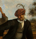 STEEN,J  THE DANCING COUPLE, DETALJ 11, 1663, NGW