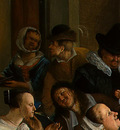 STEEN,J  THE DANCING COUPLE, DETALJ 2, 1663, NGW