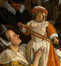 STEEN,J  THE DANCING COUPLE, DETALJ 4, 1663, NGW