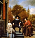 Steen Jan The Mayor of Delft and his daughter Sun