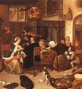 Steen The Dissolute Household, 1668, oil on canvas, Wellingt