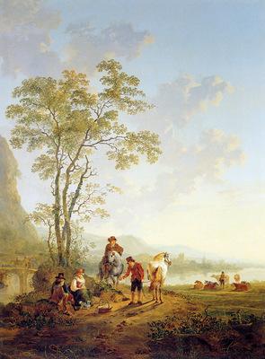 Strij van Jacob Italian landscape and ruin Merwede Sun