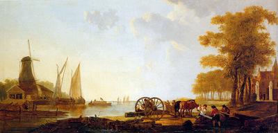 strij van jacob riverlandscape with mill