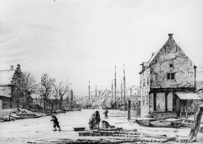 Strij van Jacob Winterview Spuihaven in Dordrecht Sun