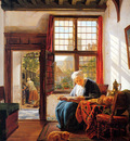 Strij van Abraham Reading old woman at window