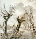 Strij van Jacob Landscape in winter Sun