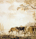 Strij van Jacob Landscape with cows Sun