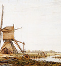 Strij van Jacob Landscape with watermill Sun
