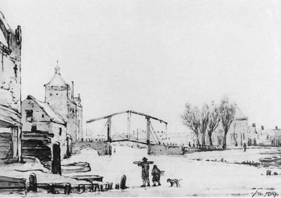 Strij van Jacob Winterscene at Spuipoort Sun