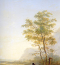 Strij van Jacob Italian landscape Sun