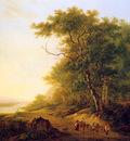 Strij van Jacob Mountainous landscape with travellers Sun