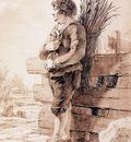 Strij van Jacob Standing man with branches Sun