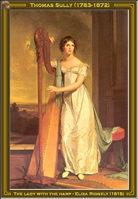 thomas sully the lady with the harp 1818 po amp