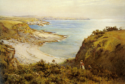 Swanwick Harold Picking Flowers Above The Beach