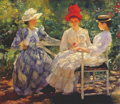 tarbell three sisters a study in june sunlight