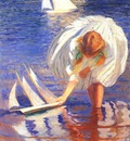 tarbell girl with sailboat