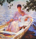 tarbell mother and child in a boat