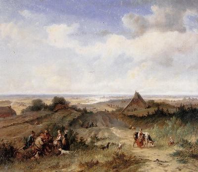 Tavenraat Johannes Flat landscape Sun