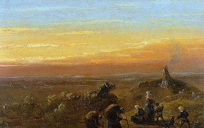 Tavenraat Johannes Moor landscape Sun