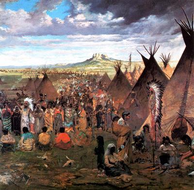 JLM 1874 Jules Tavernier Sioux Encampment 1024x1000