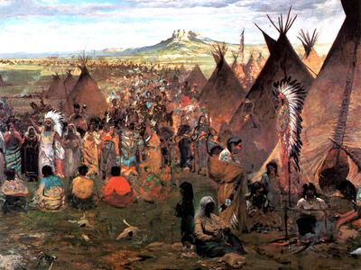 JLM 1874 Jules Tavernier Sioux Encampment
