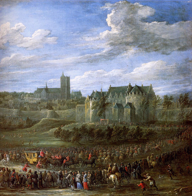 Teniers David Jr Arrival Christina of Sweden in Brussel