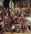 Teniers David II Arch duke Leopold in painting gallery Sun