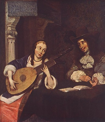 Woman Playing the Lute WGA
