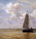 Tholen Willem Botter at dam in the Zuiderzee Sun