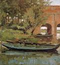 Tholen Willem Bridge and sluice in Het Meertje Sun