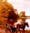 Thomsen Carl Christian Frederik Jacob An afternoon At The Lake