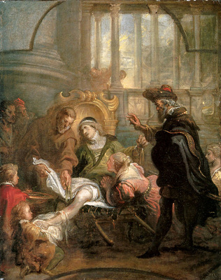 Thulden van Theodoor Holy Franciscus heals Giovanni di Carat