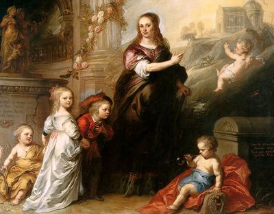 Thulden van Theodoor Josina Copes van Westrum and her childr
