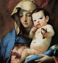 Tiepolo Giambattista The madonna with the goldfinch Sun
