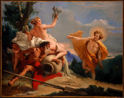 Tiepolo Apollo Pursuing Daphne, ca 1755 60, 68 5x87 cm, NG