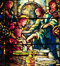 Tiffany Jesus Washing the Feet of the Disciples
