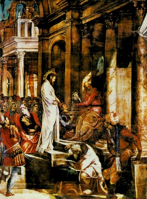 TINTORETTO CHRIST BEFORE PILATE, SALA DELLALBERGO, SCUOLA D