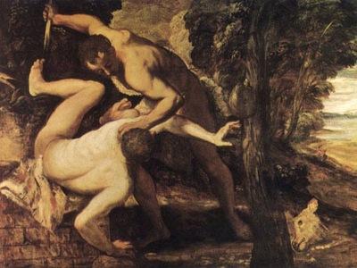TINTORETTO KAIN OCH ABEL, 1550 1553, VENEDIG