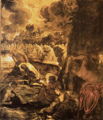 Tintoretto Baptism of Christ, 1579 81, 538x465 cm, Sala Gran