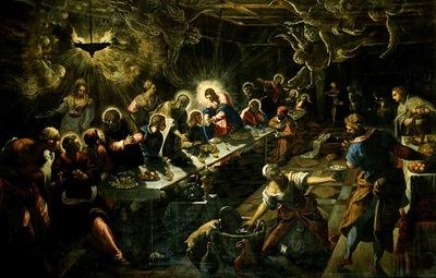 Tintoretto Lultima cena, 1592 94, 360x560 cm, San Giorgio M