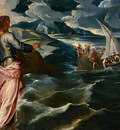 TINTORETTO CHRIST AT THE SEA OF GALILEE, C  1575 1580, DETAL