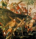 Tintoretto The ascent to Calvary, 1566 67, 515x390 cm, Sala
