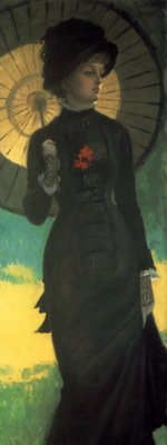Mrs Newton with a Parasol