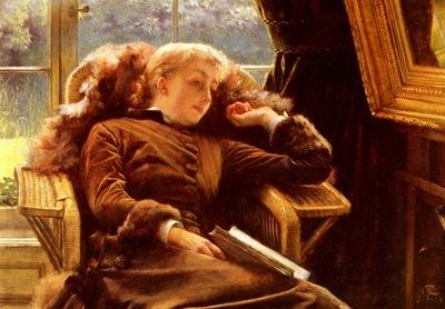 Tissot James Jacques Joseph Kathleen Newton In An Armchair